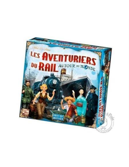 Jeu de société Asmodee Les Aventuriers du Rails Autour du Monde