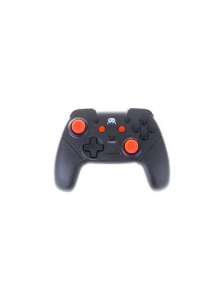 Manette Freaks And Geeks pour Nintendo Switch Sans fil Noire avec Stick Rouge