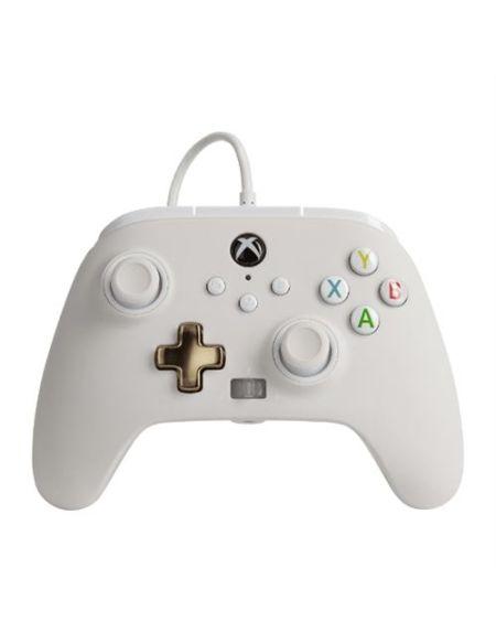 Manette filaire améliorée Xbox our Xbox Séries X/S Blanc Mistique