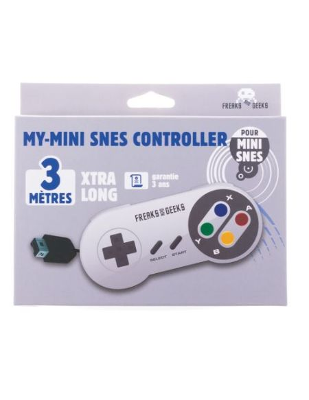 Manette Nintendo Mini SNES filaire Freaks And Geeks Blanc