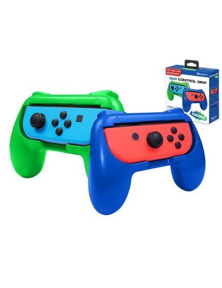 Pack de 2 Grips Subsonic Vert et Bleu pour Joy-Cons Nintendo Switch