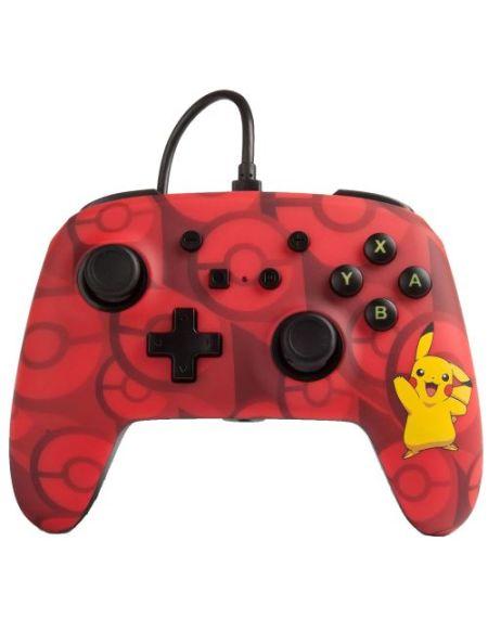 Mannette de jeu filaire PowerA Pikachu Rouge pour Nintendo Switch