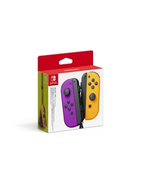 Paire de manettes Nintendo Switch Joy-Con Violet Néon et Orange Néon