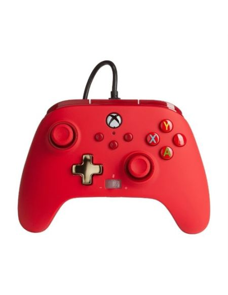 Manette filaire améliorée Xbox pour Xbox Séries X/S Rouge