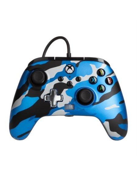 Manette filaire améliorée Xbox pour Xbox Séries X/S Camouflage Bleu Métallique