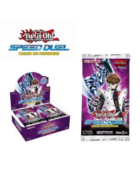 Booster 4 cartes Konami Yu-Gi-Oh! Speed Duel l'Assaut des profondeurs
