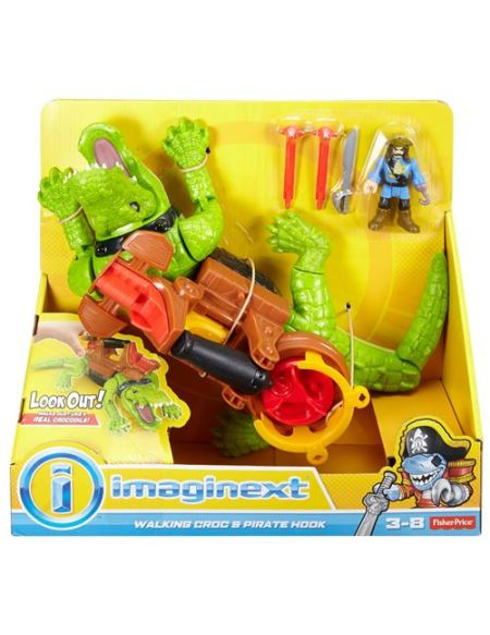 Figurine Fisher Price Imaginext Crocodile et Pirate Hook