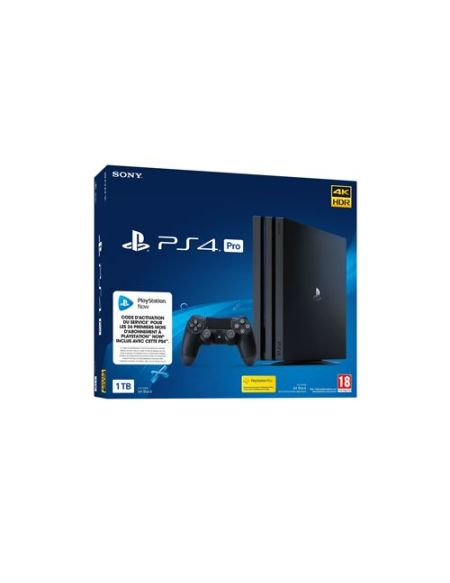 Console Sony PS4 Pro 1 To Noir + 24 mois de PS NOW