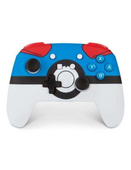 Manette de jeu Nintendo Switch PowerA Greatball Blanc Rouge et Bleu