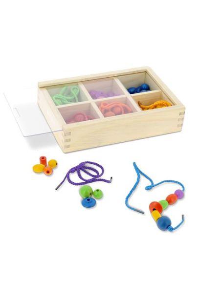 Boîte de perles en bois Nature et Découvertes Montessori