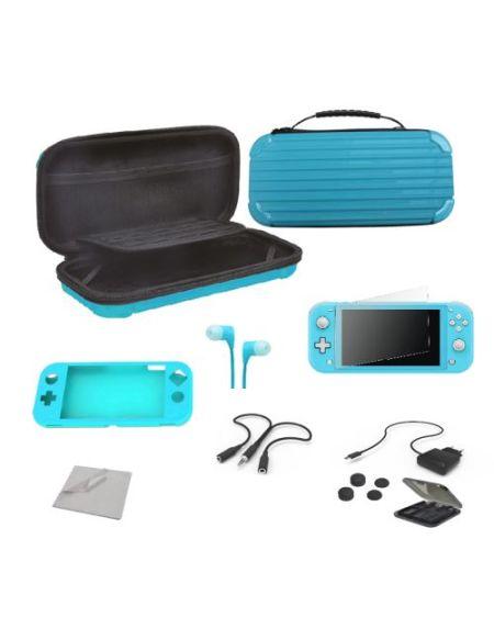 Pack Alpha Omega Players Nintendo Switch Lite Mega Starter Extreme 12 en 1 Bleu