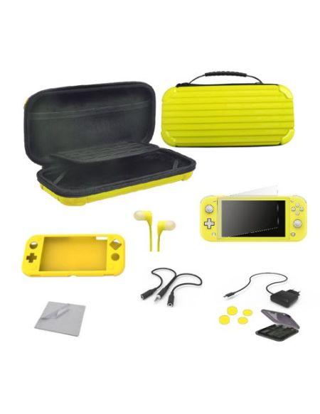 Pack Alpha Omega Players Nintendo Switch Lite Mega Starter Extreme 12 en 1 Jaune