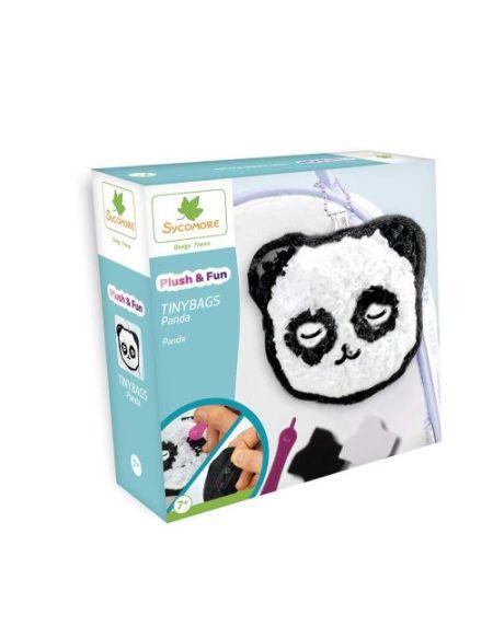 Kit créatif Au Sycomore Plush & Fun Tinybags Panda