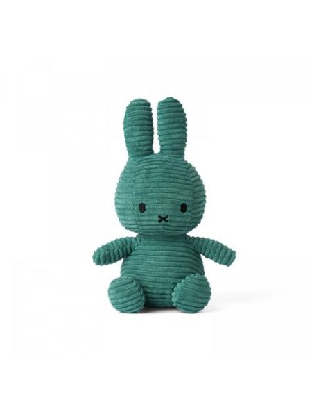 Peluche Miffy lapin velours côtelé 24 cm Vert