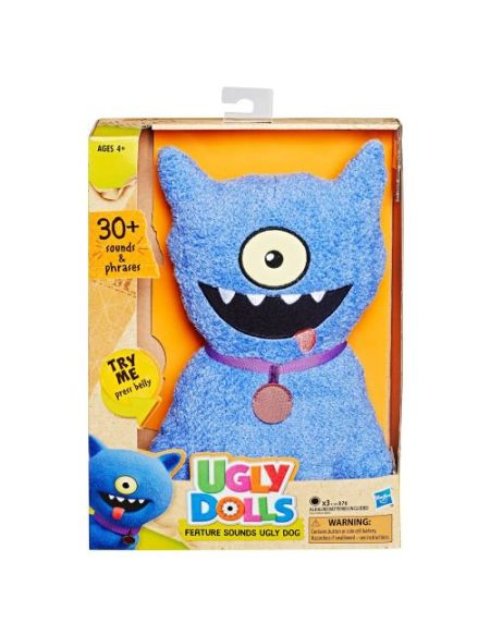 Peluche insolite Ugly Dolls Feature Sounds Dog