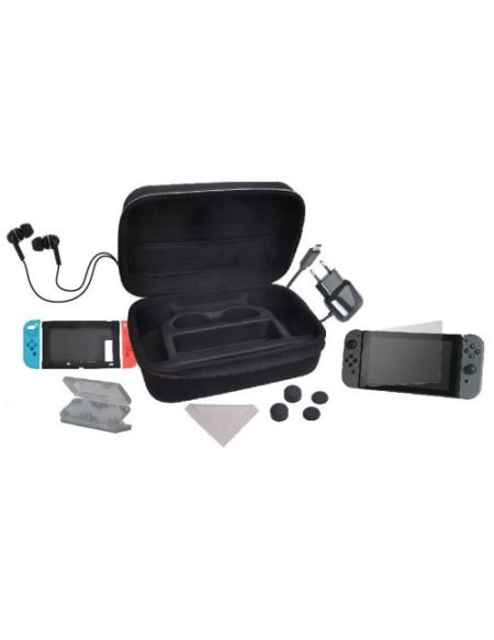 Pack de transport 10-en-1 Alpha Omega Players Edition Deluxe Noir pour Nintendo Switch