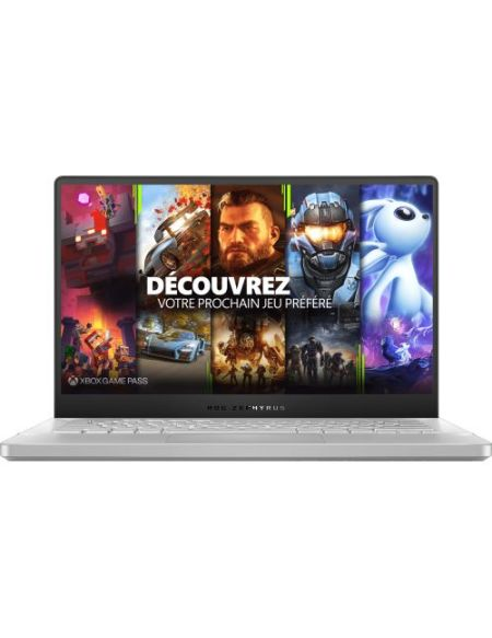 "PC Portable Gamer Asus ZEPHYRUS-G14-GA401IV-120T 14"" AMD Ryzen 9 16 Go RAM 1 To SSD Blanc"