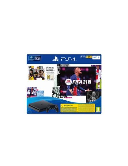 Console PS4 500 Go + FIFA 21 + Pack FUT + PS+ 14 jours