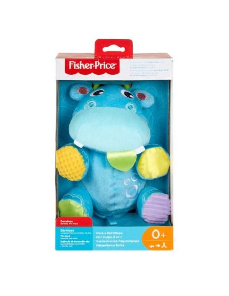 Peluche transformable en balle Fisher Price Mon Hippo 2 en 1