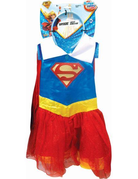 Robe tutu et serre-tete Warner Supergirl 4-6 ans