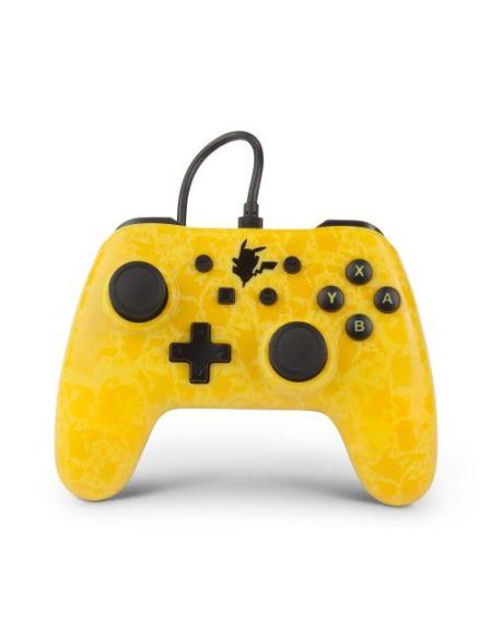 Manette Nintendo Switch filaire PowerA Pikachu Silhouette Jaune