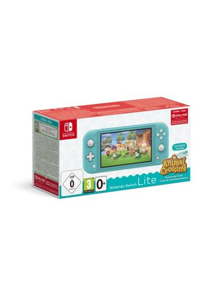 Pack Console Nintendo Switch Lite Turquoise + Animal Crossing : New Horizon + 3 mois d'abonnement Nintendo Switch Online
