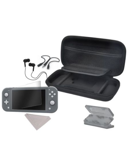 Pack accessoires Starter 6 en 1 Noir pour Nintendo Switch Lite
