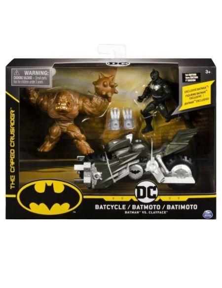 Pack Batmoto 2 Figurines Batman 10 cm Modèle aléatoire