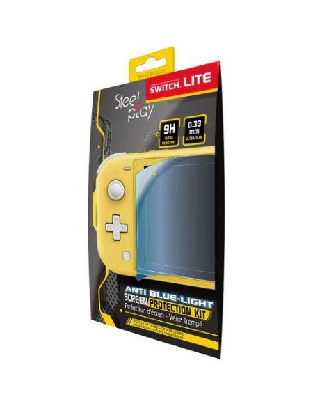 Protection d'écran Steelplay en Verre trempé anti-lumière bleue pour Nintendo Switch Lite