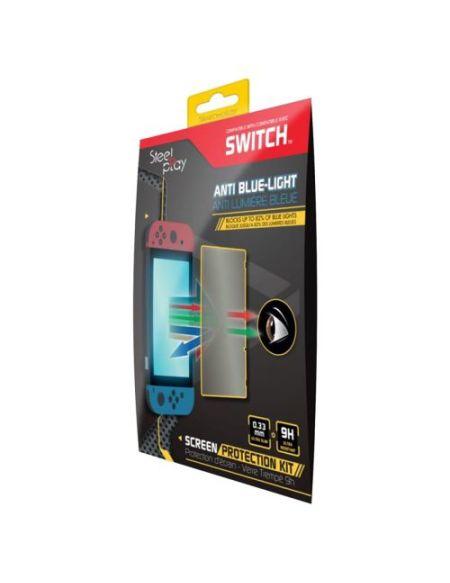 Protection d'écran Steelplay en Verre trempé anti-lumière bleue pour Nintendo Switch