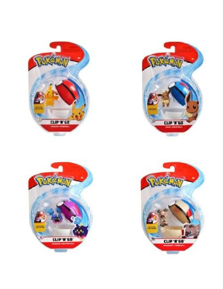 Figurine 5 cm et Poké Ball - Pokémon - Concombaffe