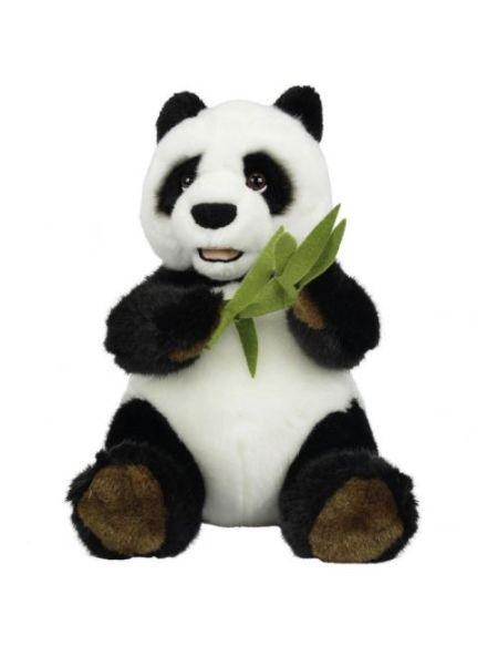Peluche Simba Panda Assis avec Bambou 25 cm