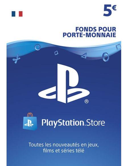 Code de téléchargement Playstation Store Fonds pour Porte-Monnaie virtuel 5€