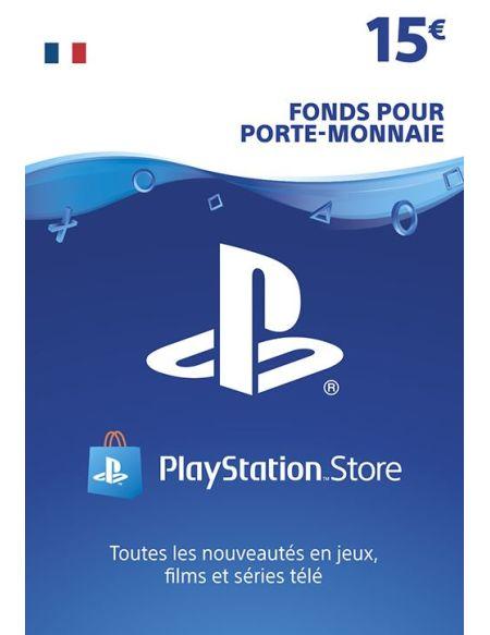 Code de téléchargement Playstation Store Fonds pour Porte-Monnaie virtuel 15€