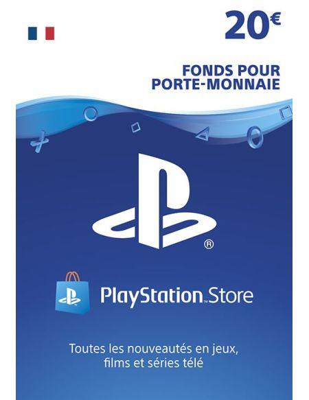 Code de téléchargement Playstation Store Fonds pour Porte-Monnaie virtuel 20€