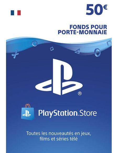Code de téléchargement Playstation Store Fonds pour Porte-Monnaie virtuel 50€