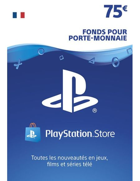 Code de téléchargement Playstation Store Fonds pour Porte-Monnaie virtuel 75€