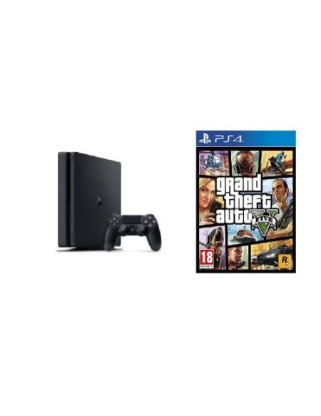 Console Sony PS4 Slim 1 To Noir + GTA 5
