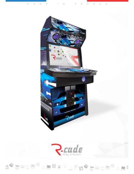 Borne d'arcade R-Cade Jamma Elite avec Habillage Cars