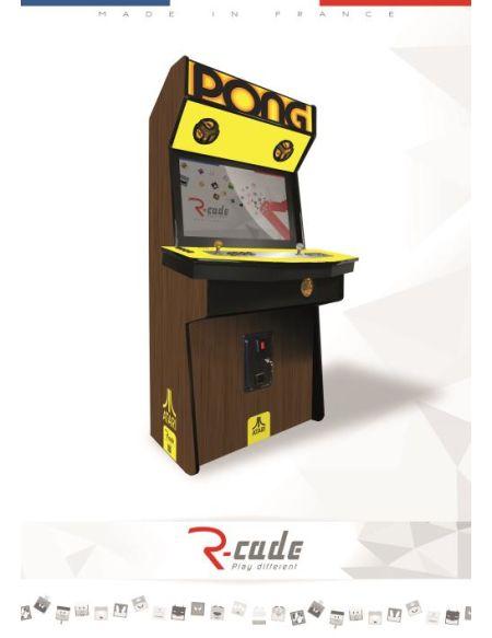 Borne d'arcade R-Cade Jamma Elite avec Habillage Atari – Pong
