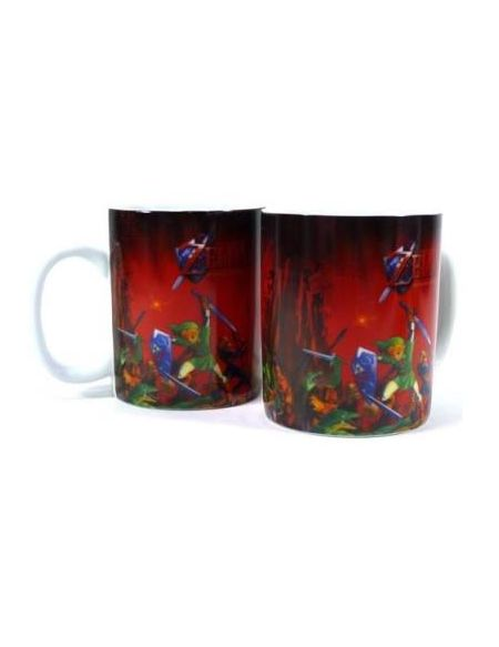Mug The Legend of Zelda Ocarina of Time 3D Rouge 320 ml
