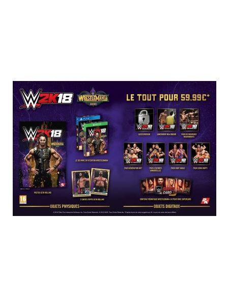 WWE 2k18 Wrestlemania PS4