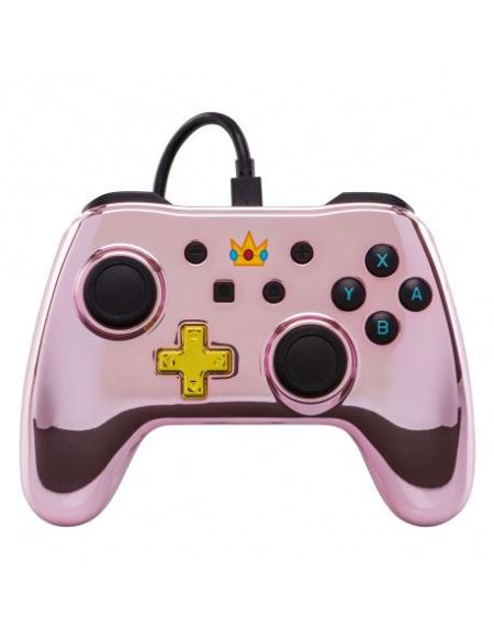 Manettes filaire pour Nintendo switch Chrome rose - Peach