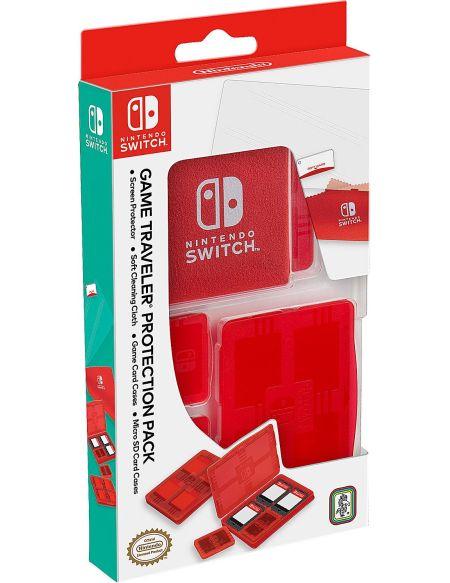 Pack de protection pour Nintendo Switch (boîtiers + film + étoffe)