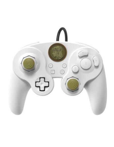Manette filaire Nintendo Switch Smash Bros | Zelda Blanc