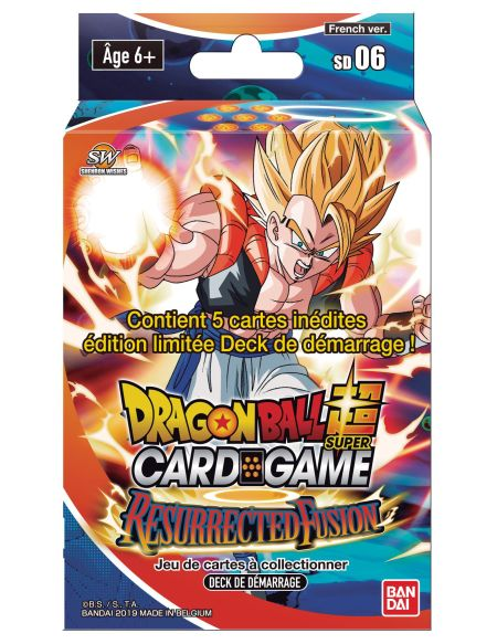 Starter Dragon Ball Super Resurrected Fusion jeu de cartes à collectionner