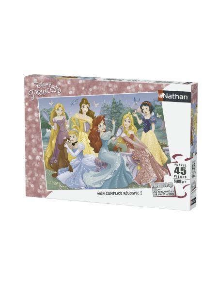 Puzzle 45 p - Rencontre avec les princesses Disney