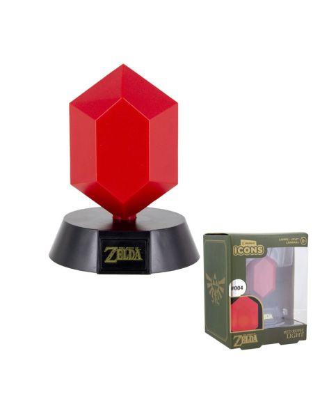 Lampe Icone Rupee Rouge - Zelda