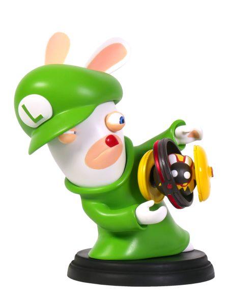 Figurine Mario et Lapins Crétins - Luigi - 15 cm