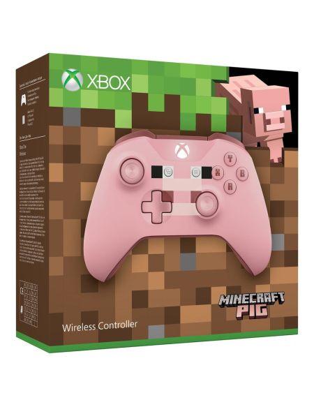 Manette Sans Fil XBOX One - Minecraft Pink
